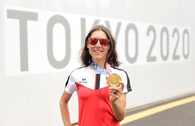 Radfahrerin Anna Kiesenhofer sorgte für das rot-weiß-rote Gold-Highlight.