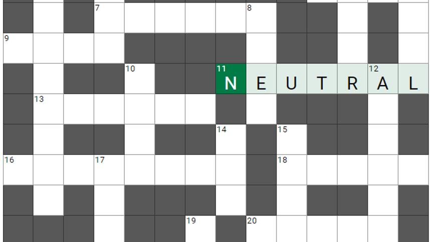 Um die Ecke gedacht, Teil 79: Das etwas andere Kreuzworträtsel