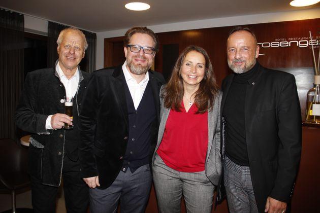 Fred Steinacher, Thomas Reiter (GF BezirksRundschau OÖ), Sonja Mayr und Ralf Lothert (v.l.; JTI Austria).