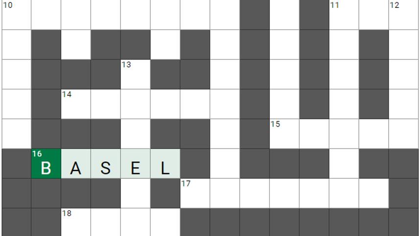 Um die Ecke gedacht, Teil 81: Das etwas andere Kreuzworträtsel