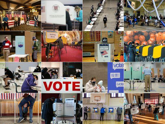 Bilder eines Wahltages.