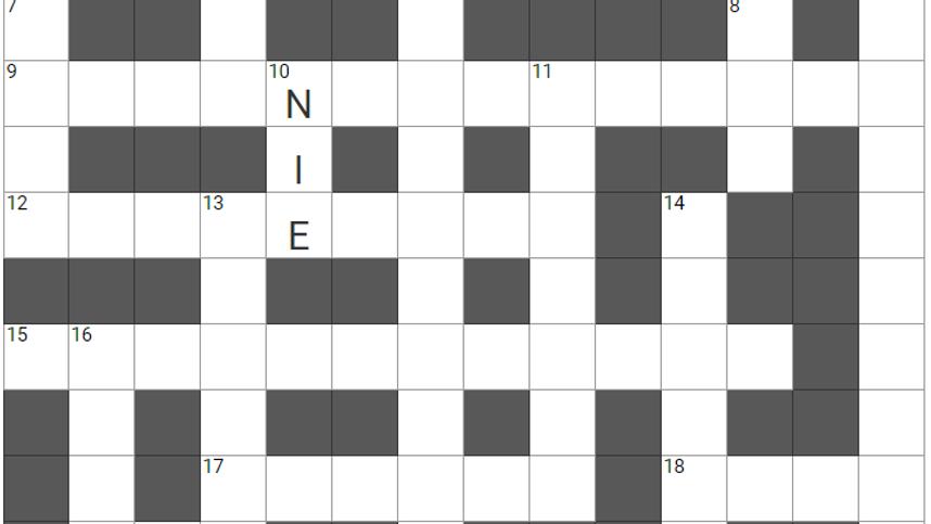 Um die Ecke gedacht, Teil 83: Das etwas andere Kreuzworträtsel