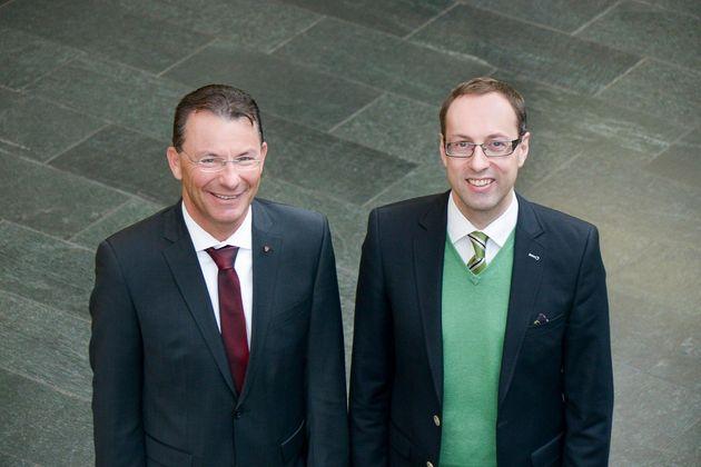 Die Hochschulleitung: Prof. (FH) Dr. Thomas Madritsch und Prof. (FH) Dr. Mario Döller (v.l.n.r).