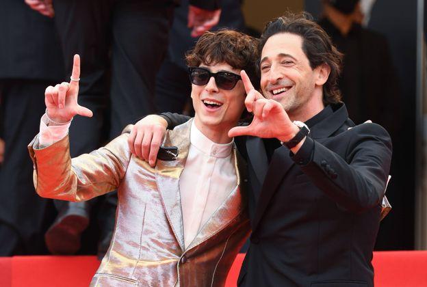 Timothee Chalamet und Adrien Brody.