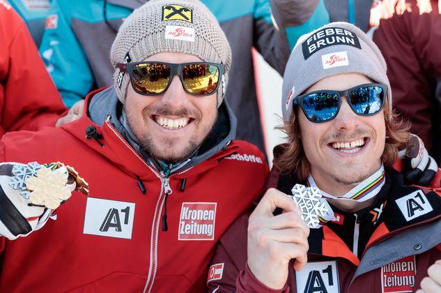 Feber: Marcel Hirscher gewinnt auch den Slalom, WM-Neuling Manuel Feller holt trotz akuter Rückenprobleme mit seinem ersten Podestplatz sensationell vor dem Deutschen Felix Neureuther gleich Silber. Mit neun Mal Edelmetall gewinnt Österreich die Medaillenwertung.