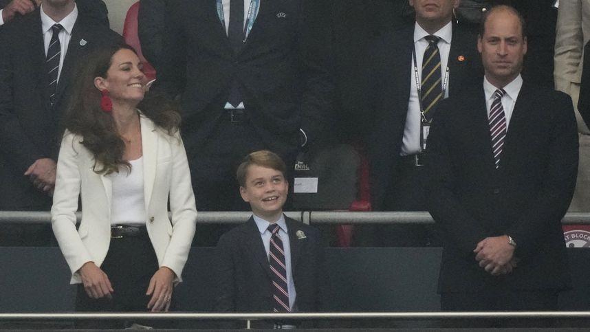Der kleine Prinz verzückt und traurig: George, ein Hingucker des EM-Finales